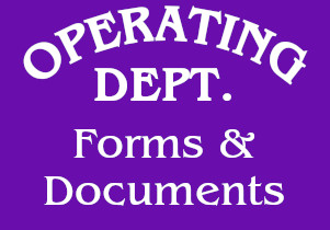 Operating Dept Forms and Documents